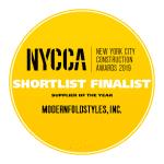 "NYCCA 2019 Shortlist Finalist ""Supplier of the Year"""