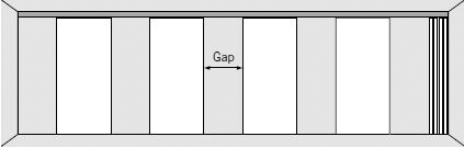 ComfortDrive gapped panels diagram