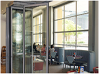 Sunflex horizontal sliding glass walls