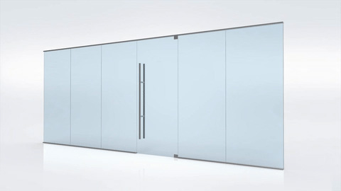 Fixed Swinging Glass Doors