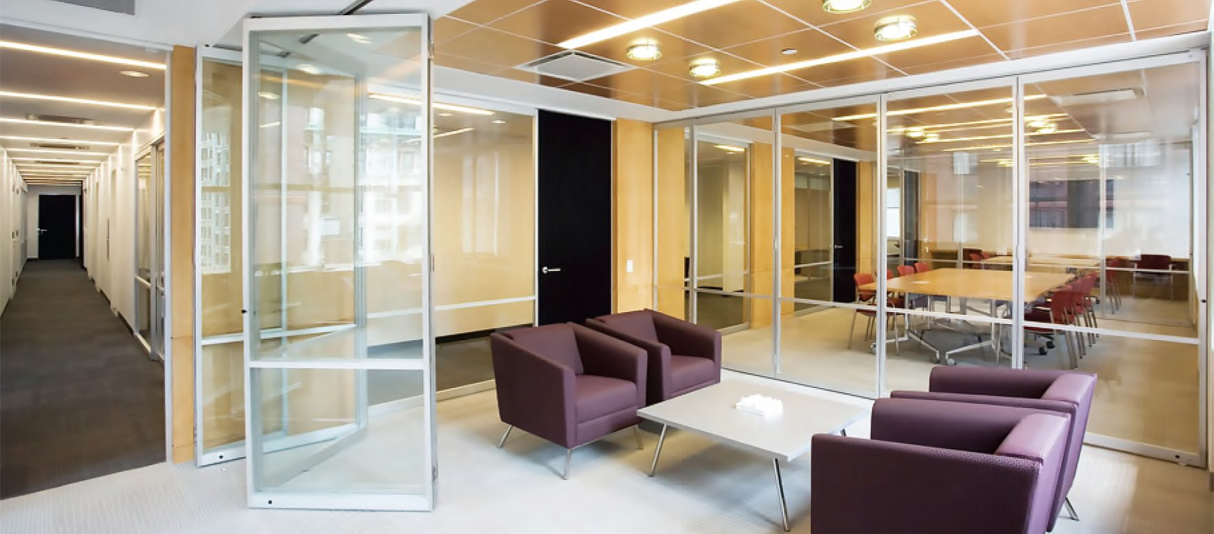 PK-30 Centerfold accordion glass walls