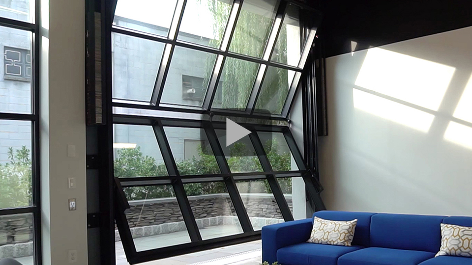 Renlita S-3000 vertical retractable glass door