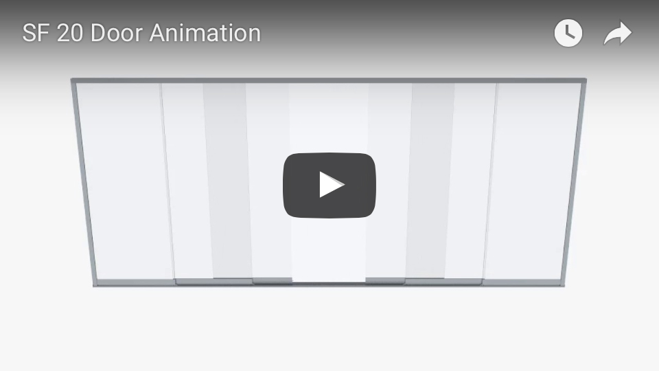 SF 20 sliding glass door animation