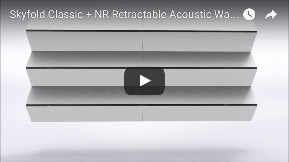 Skyfold Classic Series vertical acoustic partition animation