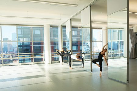 Students from The Ailey School's Professional Division. Modernfold Encore 14 ft. Single Panels.