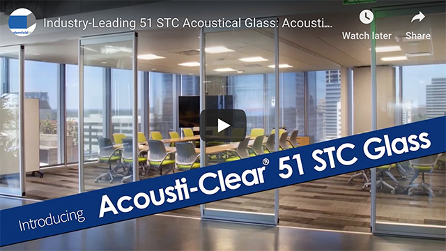 New, industry-leading 51 STC glass wall option for their Acousti-Clear® Wall Systems!