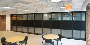 acousti-clear acoustic glass operable partition