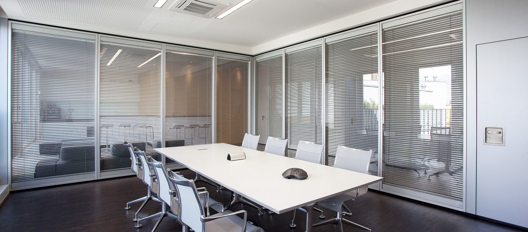 Modernfold Acousti-Clear Motorized Glass Partitions