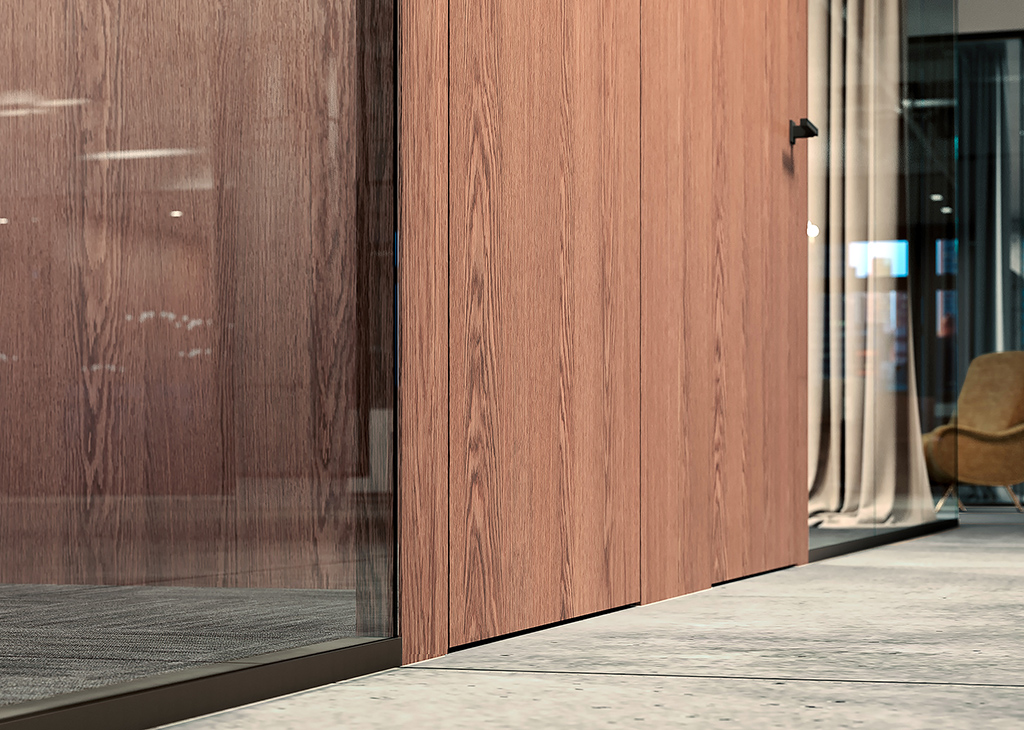 Fimo glass walls and wood doors