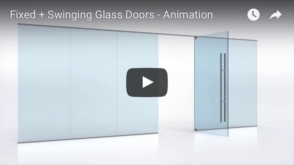 Fixed and Swinging Glass Doors animation
