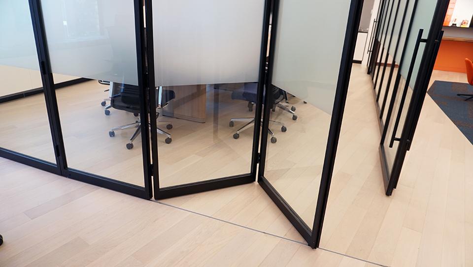 folding glass wall pk-30