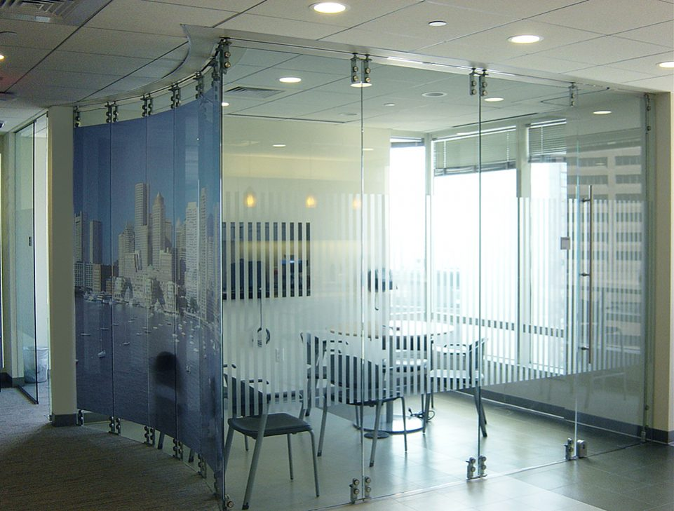 modernfold hsw-gp moveable glass wall