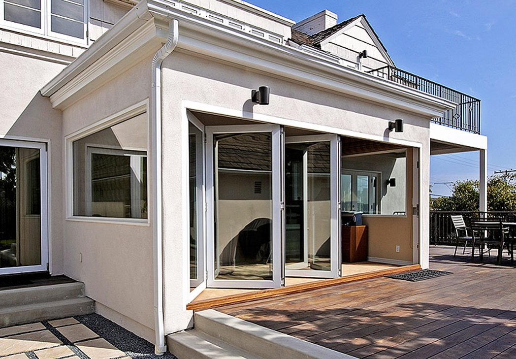 lacantina aluminum wood folding doors