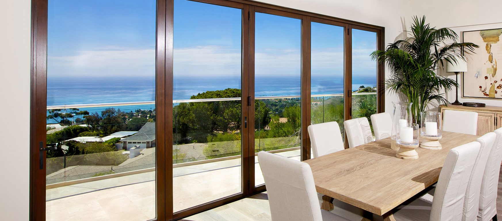 LaCantina Clad folding glass doors