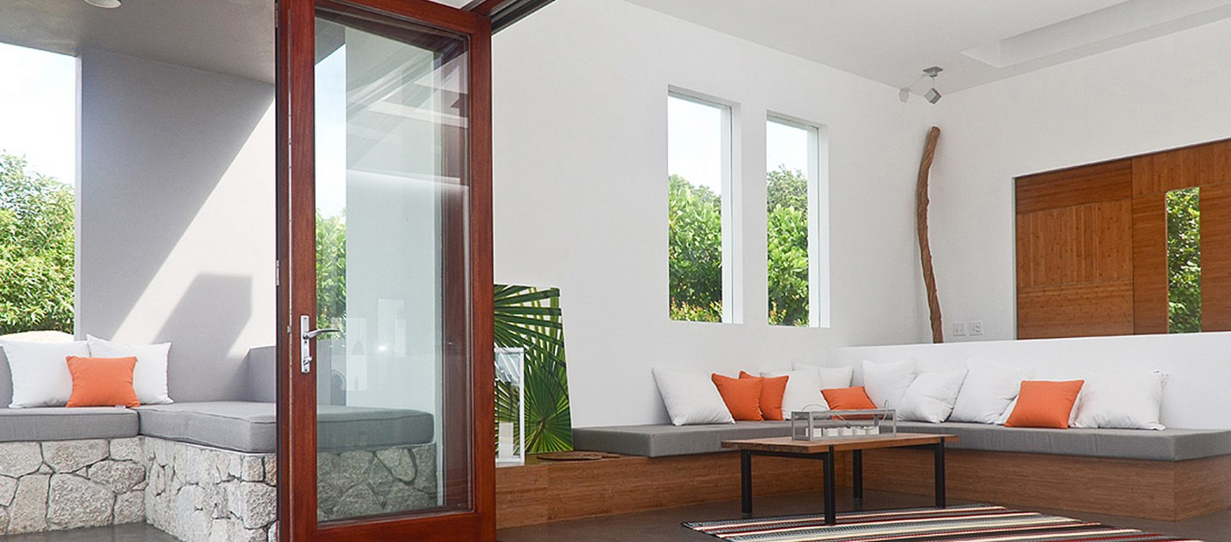 LaCantina Wood folding glass doors
