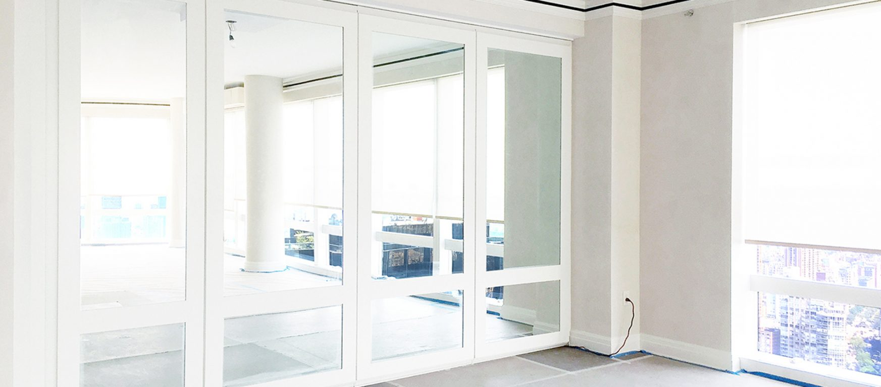 modernfold acousti-seal framed mirror partitions