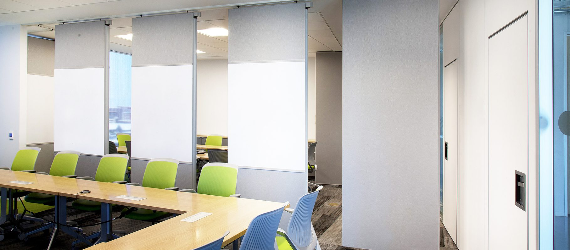 Modernfold Acousti-Seal office partitions single panels