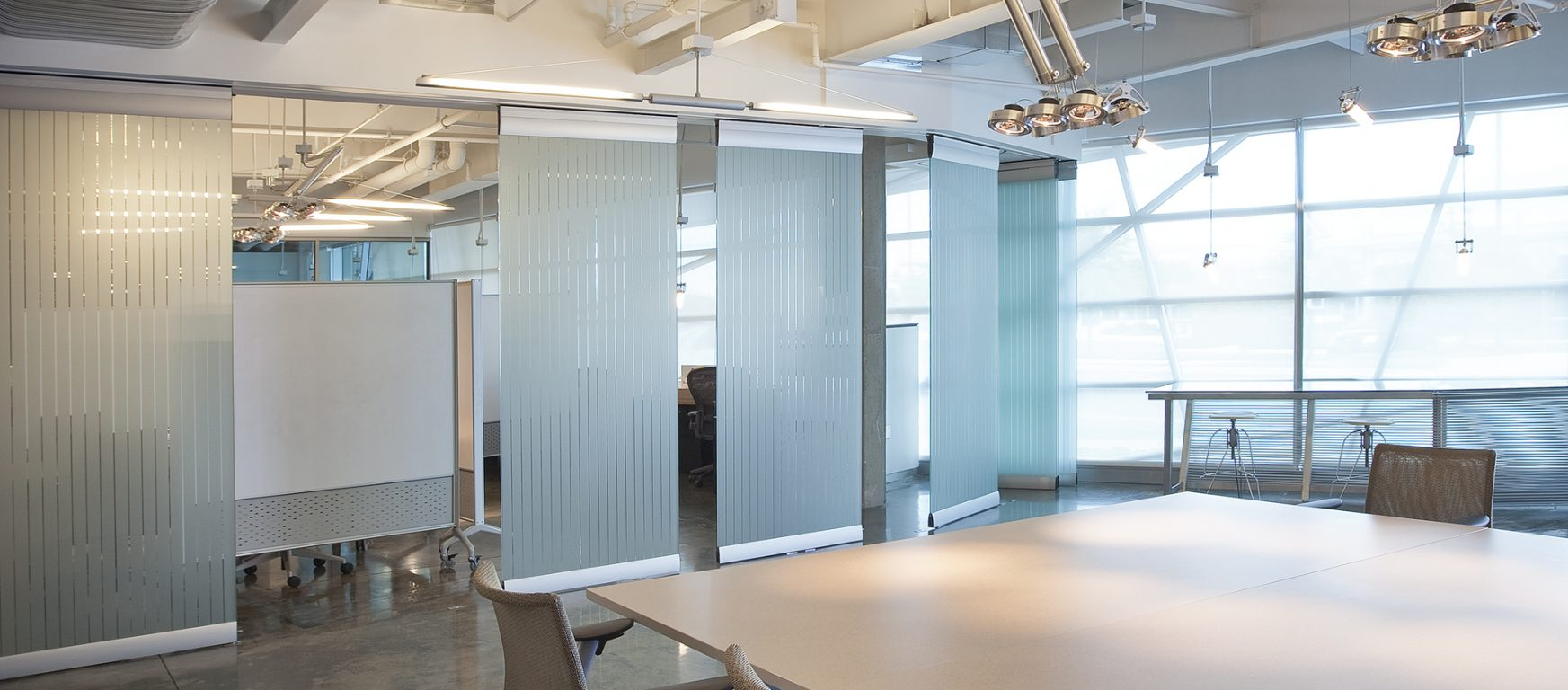 modernfold compactline moveable glass wall partitions