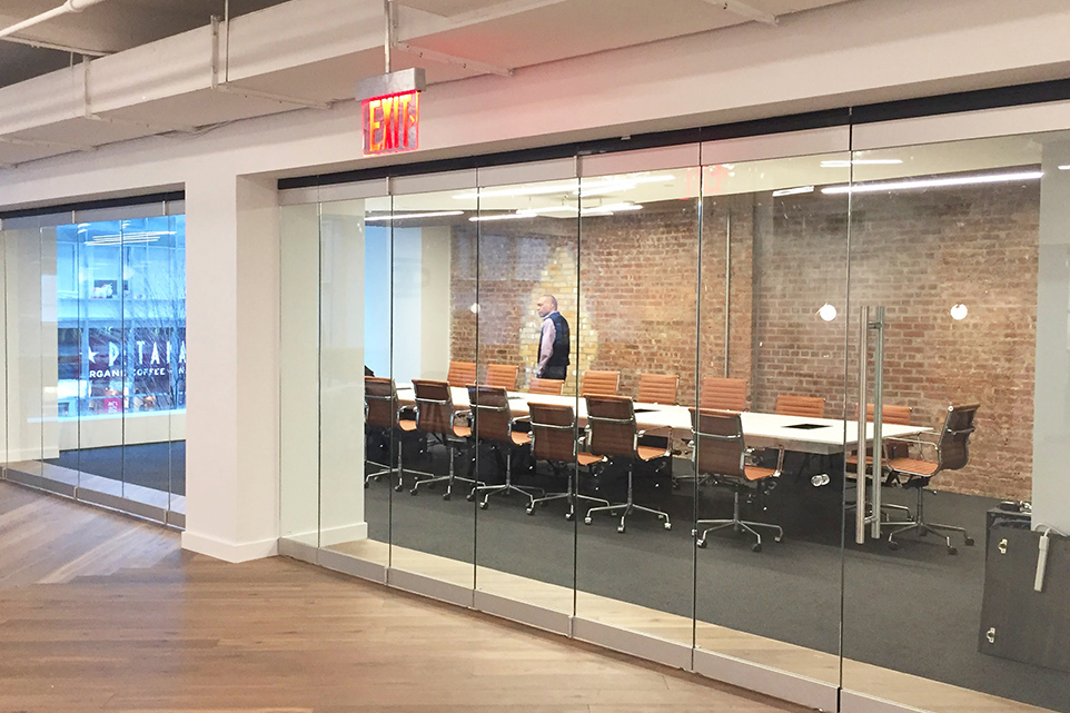 Case study silicon valley bank new offices in new york city for Sliding glass doors nyc