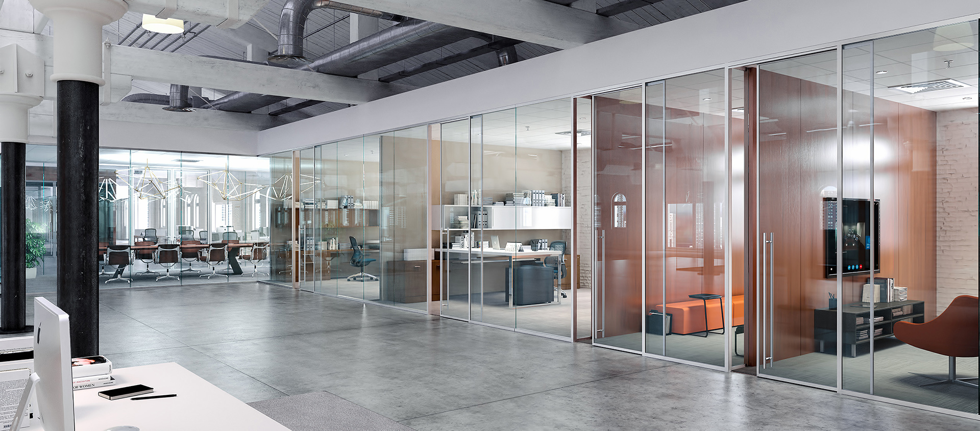 modernus framed glass walls