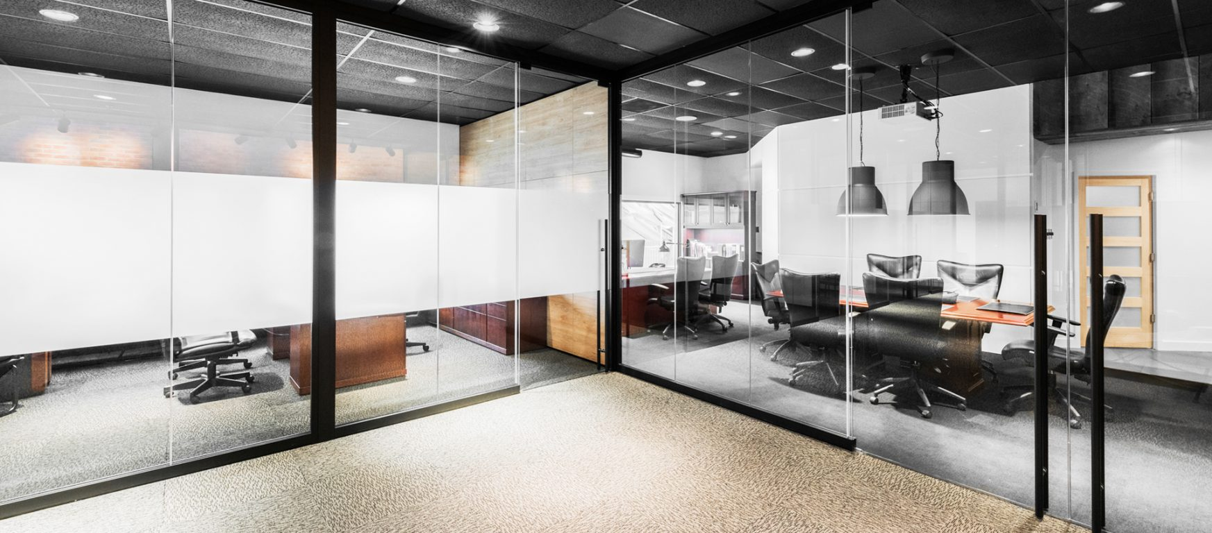 Operable partitions office front glass walls for Decor systems