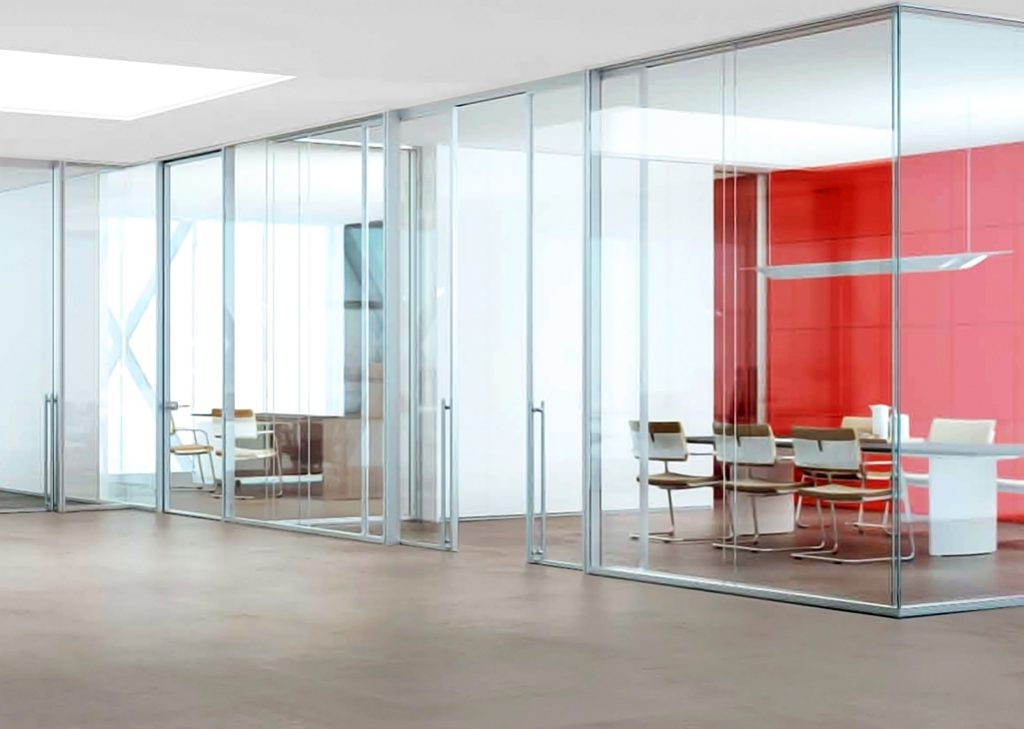 moodwall P4 office front glass walls