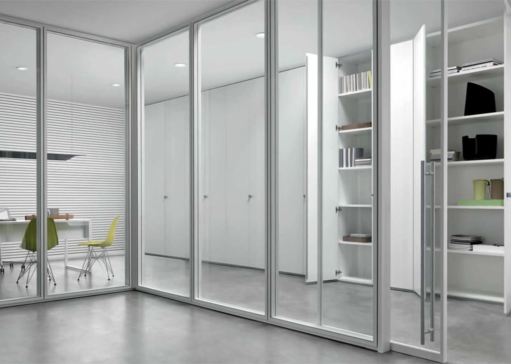 Moodwall demountable glass walls by modernfoldstyles for Sliding glass walls