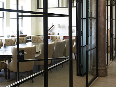 PK-30 Folding glass walls conference room doors