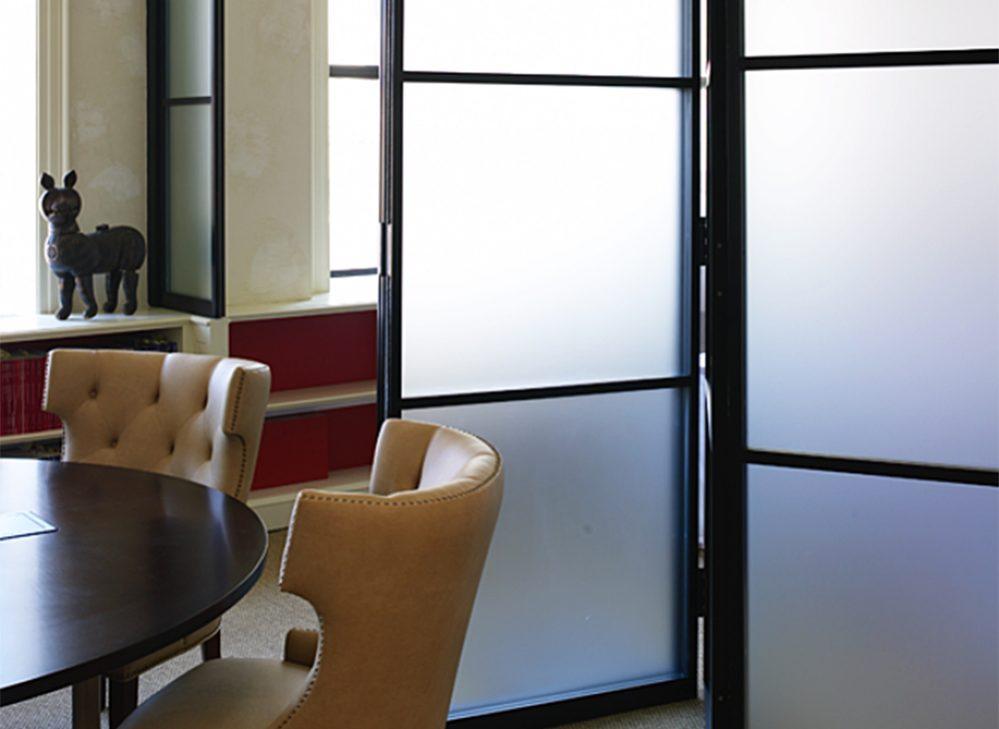 pk-30 dark framed glass doors