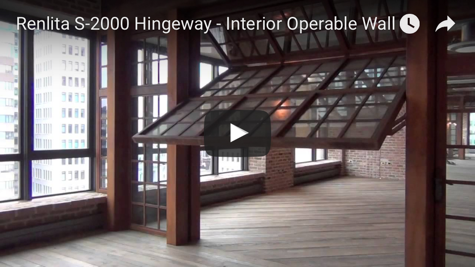Renlita S-2000 vertical hingeway door youtube 2
