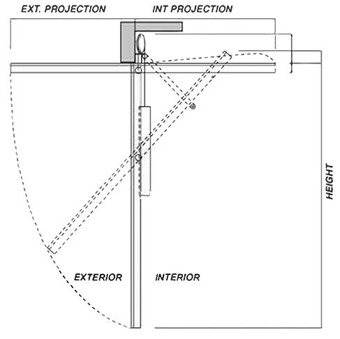Renlita S-1000 Floataway Door diagram