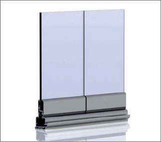 SF 25 frameless all-glass system