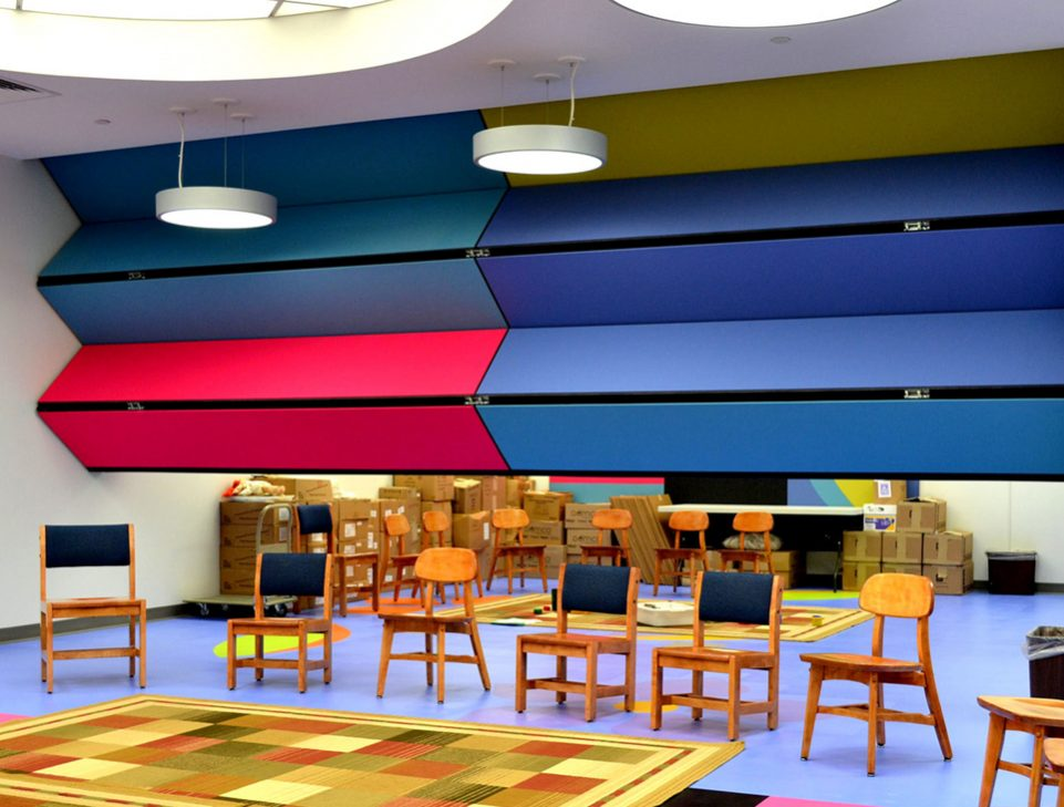 Skyfold Classic NR (noise reduction) acoustic folding partitions