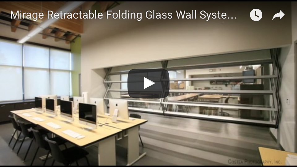 Skyfold Mirage retractable glass walls youtube