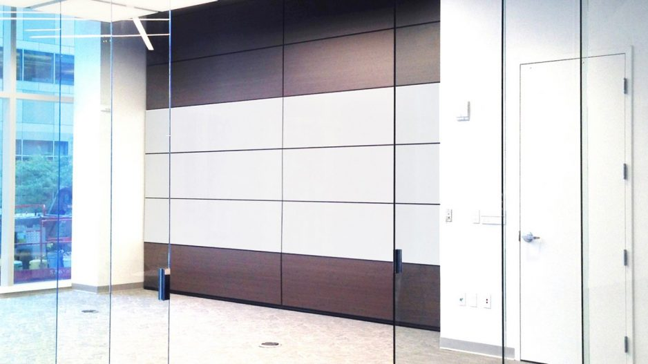 Operable doors operable walls for Retractable glass wall system