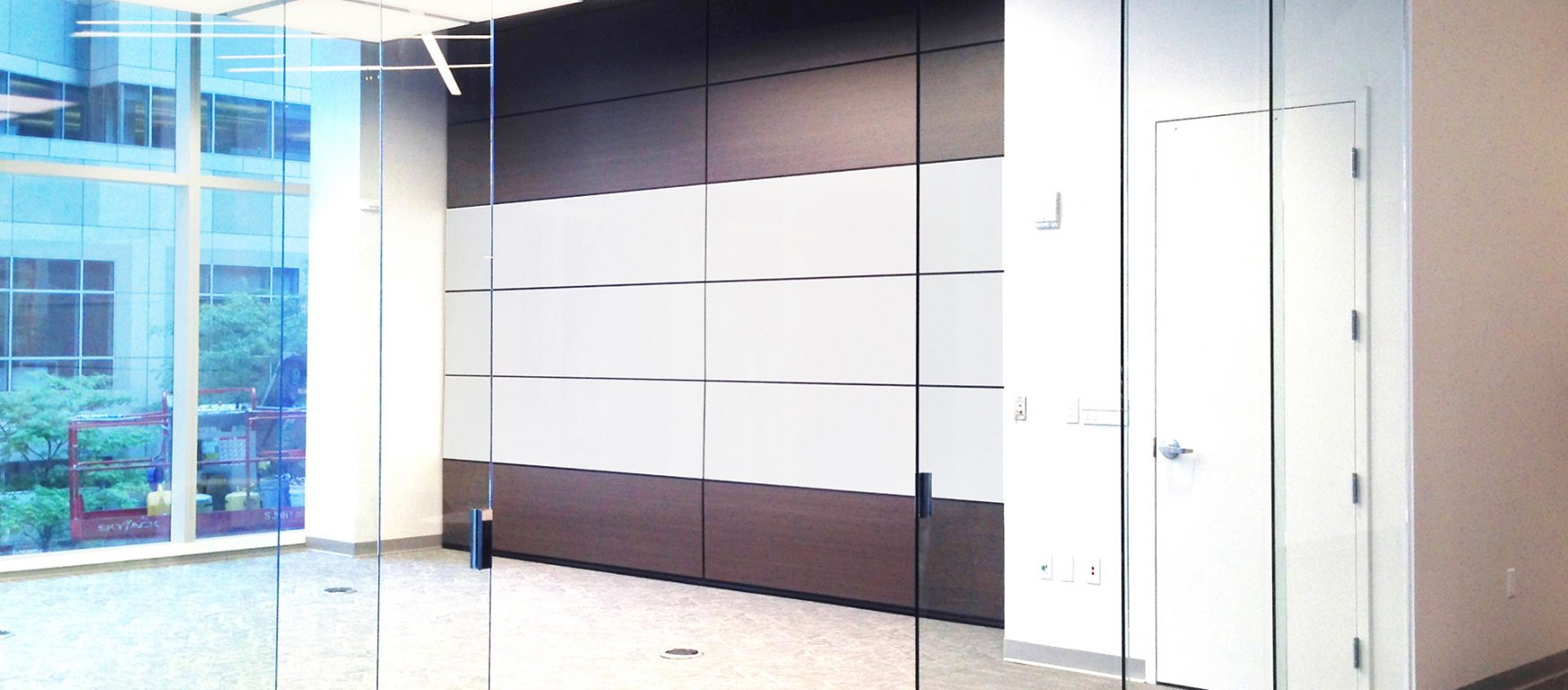 Photo albums archive operable partitions and glass wall for Retractable glass wall system