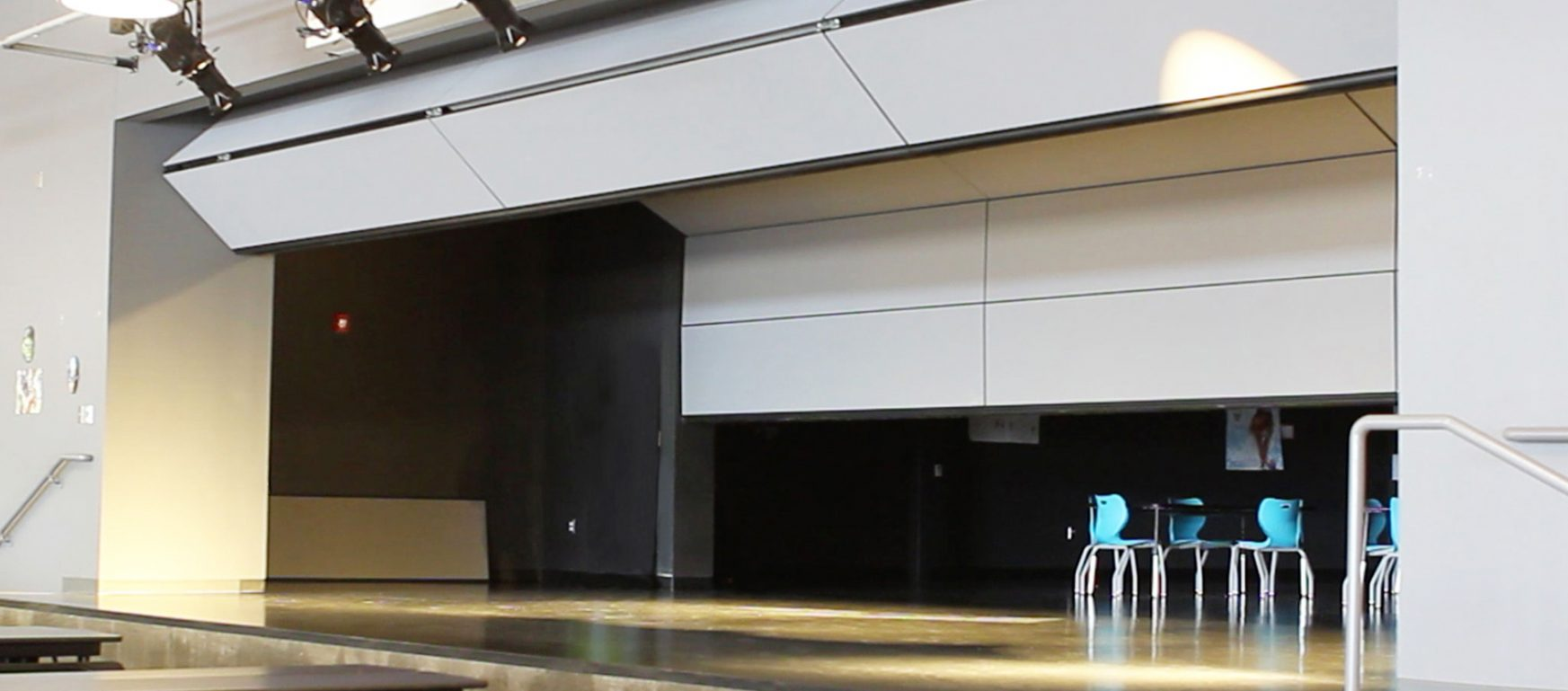 Skyfold Zenith 48 vertical retractable acoustic wall