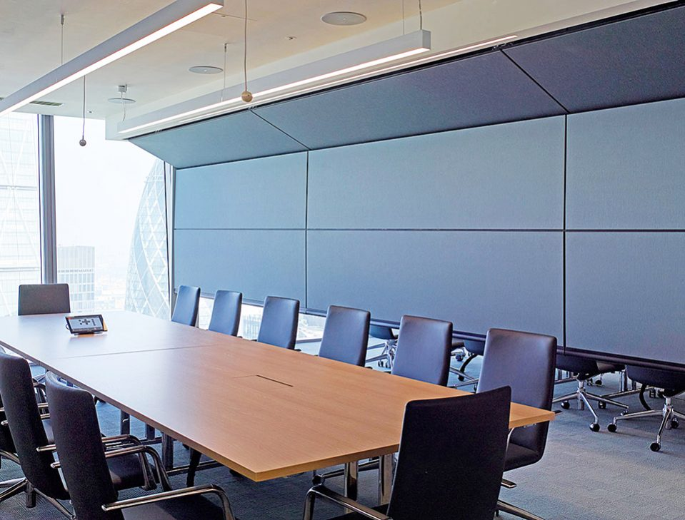vertical retractable acoustic walls: skyfold zenith series