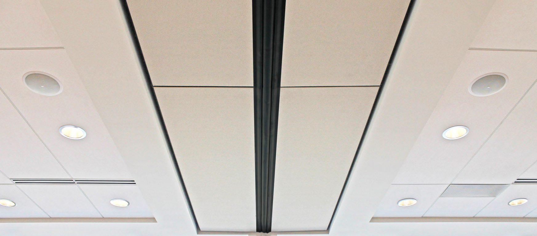 Skyfold Zenith retractable panels in ceiling