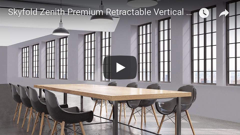 Skyfold Zenith Premium retractable vertical wall youtube