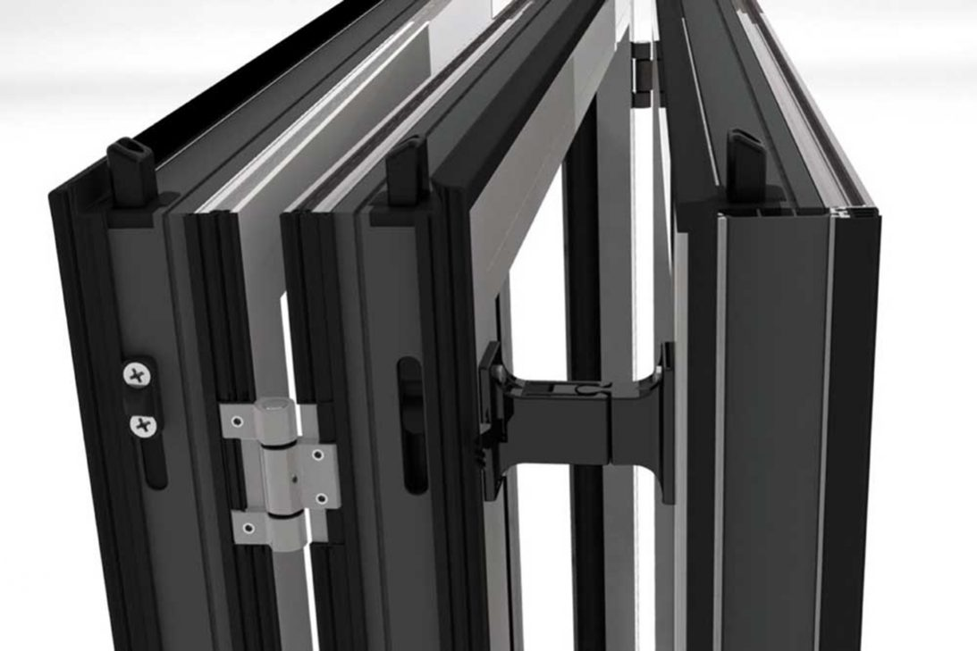 Sunflex SF50 and SF50c bi-folding doors panel catcher