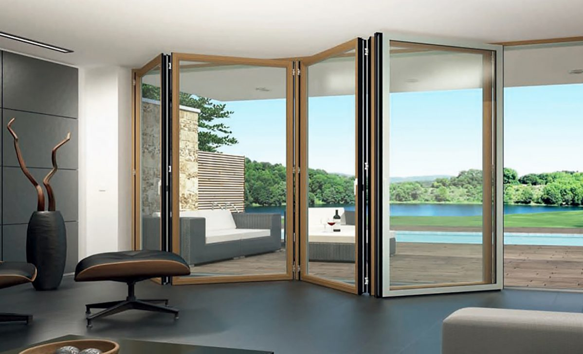 Sunflex SF 50c bifolding glass doors