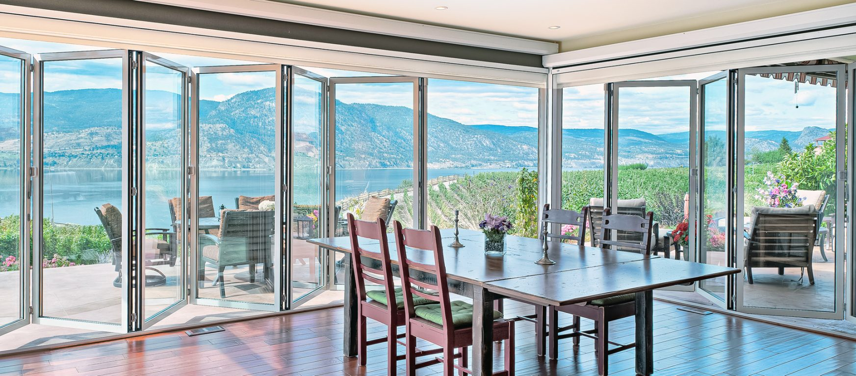 Sunflex SF75 exterior sliding glass doors