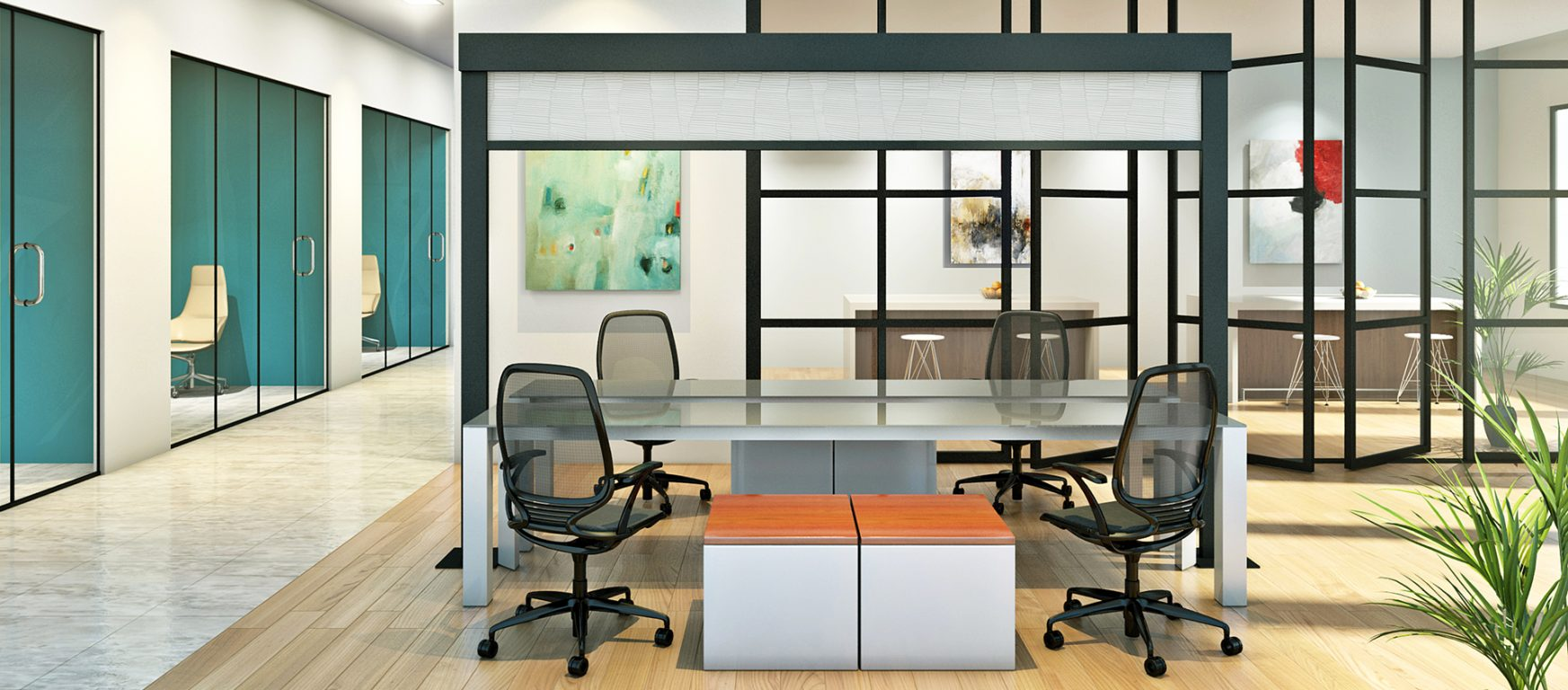 Tudelu Vertical Retractable room divider