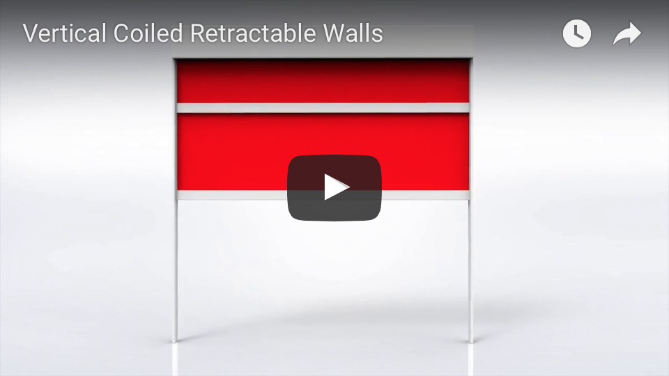 Vertical coiled retractable wall animation