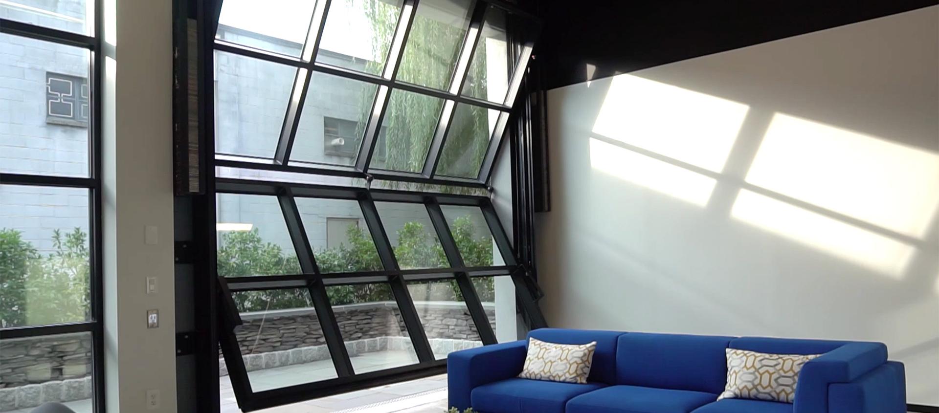 Vertical exterior glass door Renlita S3000